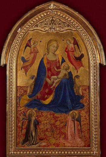 Madonna and Child with four angels 1425 | Angelico fra Beato (fra Giovanni da Fiesole- Guido di Pietro) | oil painting