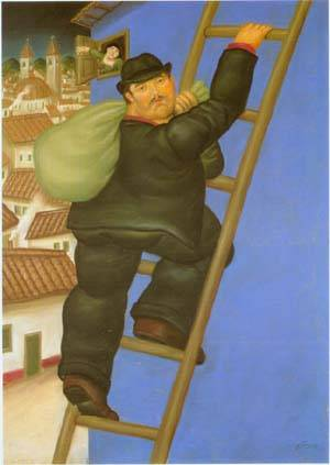A Thief 1994 | Fernando Botero | oil painting