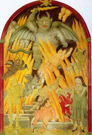 Gate Of Hell 1993 | Fernando Botero | oil painting