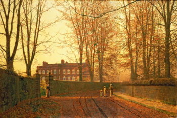 Going to Church 1880 | John Atkinson Grimshaw | oil painting