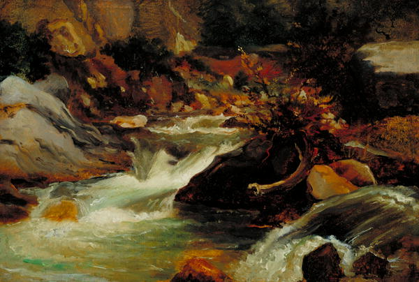 Landscape Study   Theodore Rousseau   oil painting