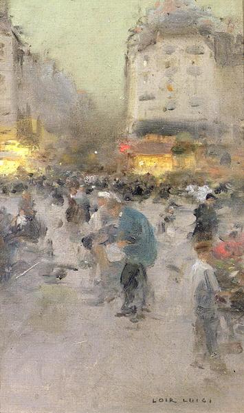 A Paris Street Scene | Luigi Loir | oil painting