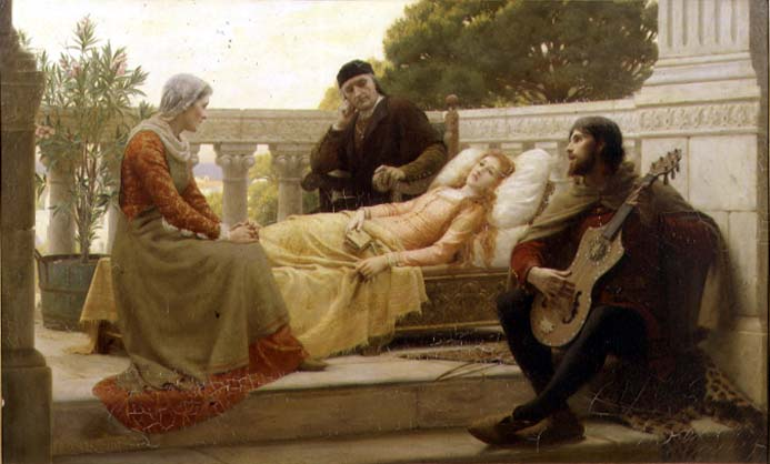 How Liza Loved the King 1890 | Edmund Blair Leighton | oil painting