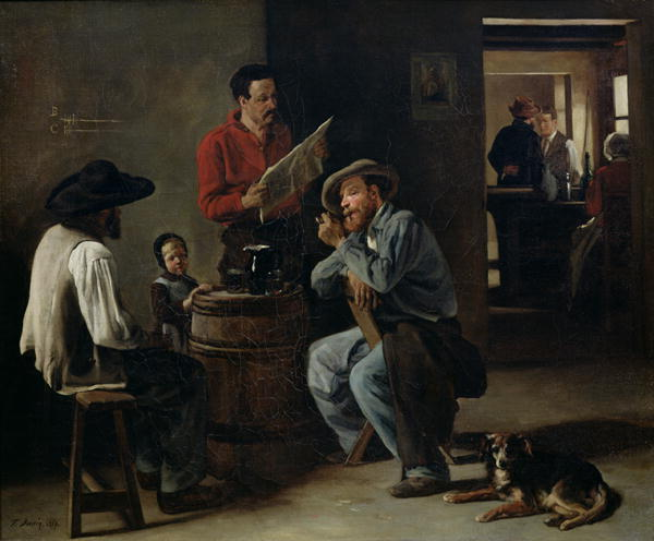 Interior of a Tavern 1859   Francois Bonvin   oil painting