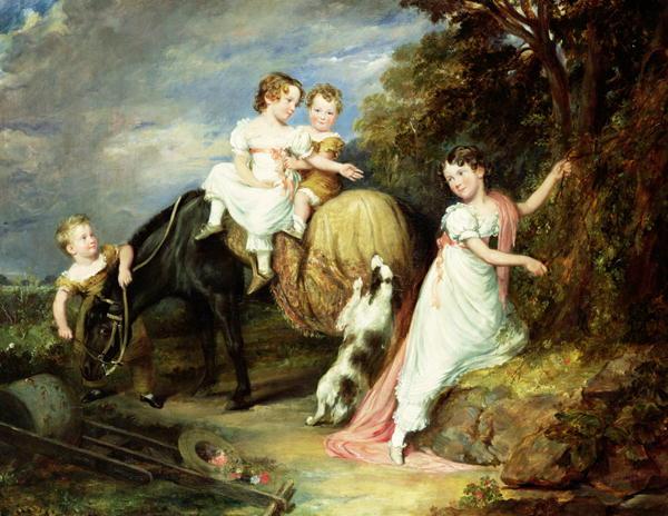Portraits of the Children of the Rev Joseph Arkwright of Mark Hall Essex 1826 | John Hayter | oil painting