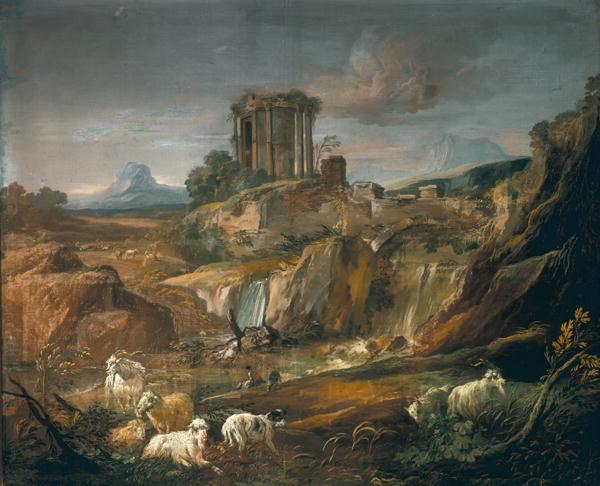 Landscape with Ruins | Gaspard Poussin Dughet | oil painting