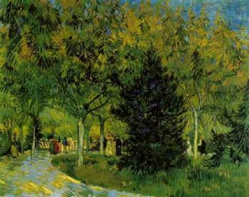 A Lane in the Public Garden at Arles | Vincent Van Gogh | oil painting
