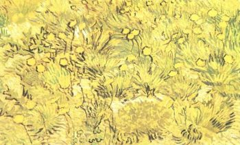 A Field of Yellow Flowers | Vincent Van Gogh | oil painting