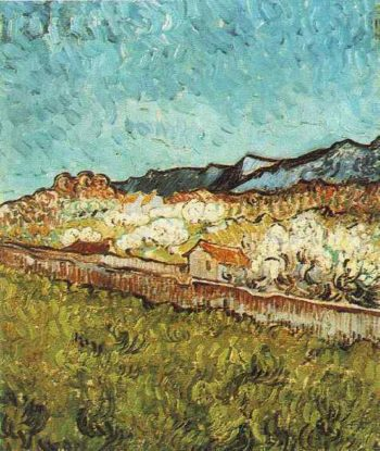 At the Foot of the Mountains | Vincent Van Gogh | oil painting