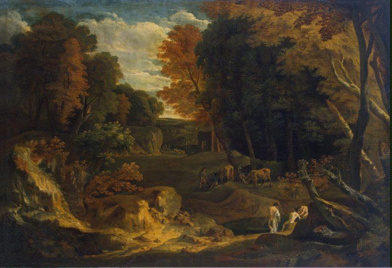 Forest Landscape   Huysmans Cornelis   oil painting