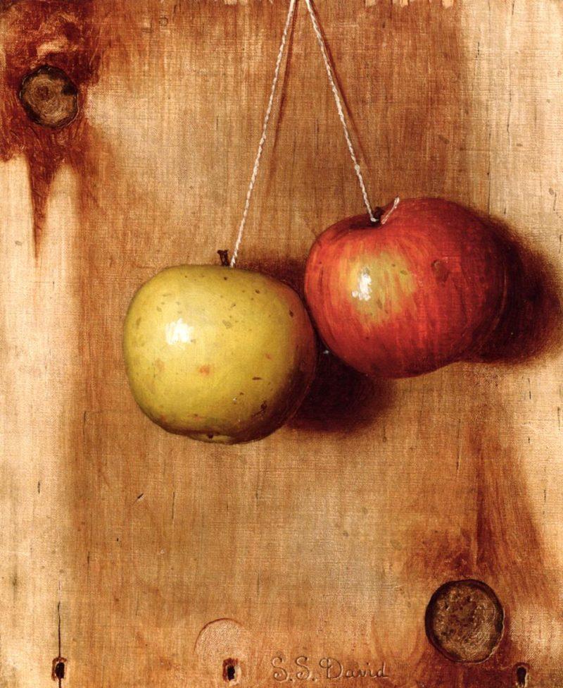 Hanging Apples | De Scott Evans | oil painting