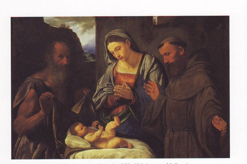 The Virgin Adoring The Child With ST Jerome And ST Francis | Girolamo Savoldo | oil painting