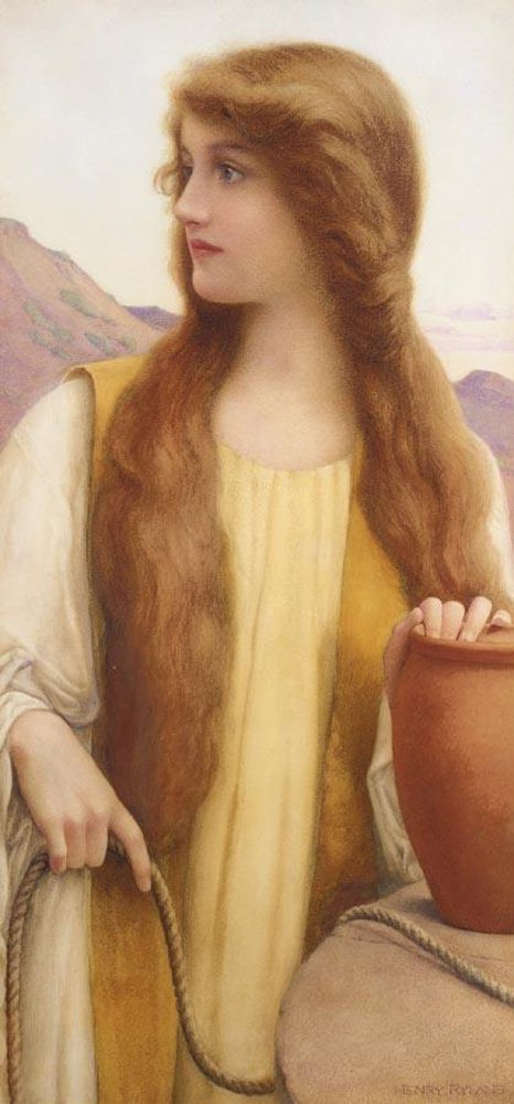 Rachel at the Well | henry ryland | oil painting