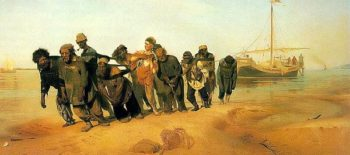 Bargemen on the Volga 1870 73 | Ilya Repin | oil painting