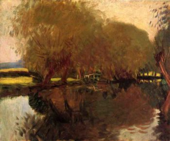 A Backwater at Calcot Near Reading | John Singer Sargent | oil painting