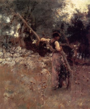 A Girl of Capri | John Singer Sargent | oil painting