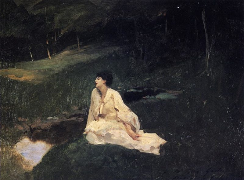 By the River or Resting by a Spring | John Singer Sargent | oil painting