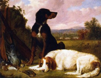 The Days Bag Guns Dogs and Game | Thomas Hewes Hinckley | oil painting