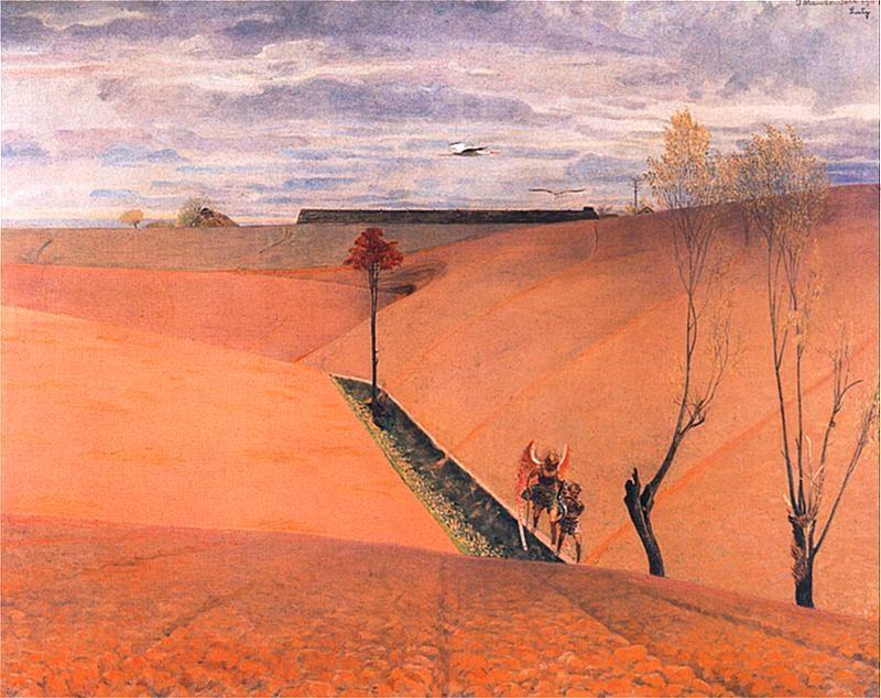 Krajobraz z Tobiaszem | Jacek Malczewski | oil painting