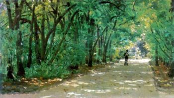 Alley in the park Kachanovka | Ilia Efimovich Repin | oil painting