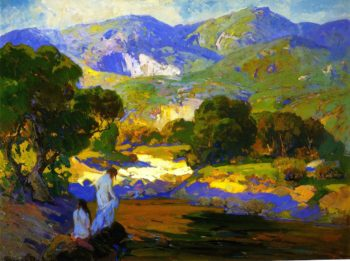 Bathers in a Mountain Stream | Franz Bischoff | oil painting