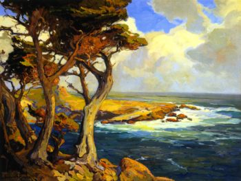 Cypress Victor of Many Battles | Franz Bischoff | oil painting