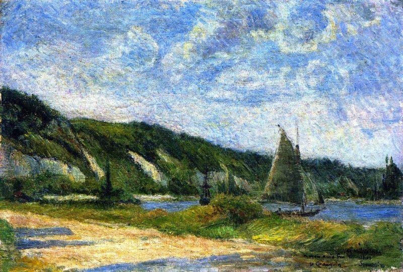 Cliffs at La Bouille | Paul Gauguin | oil painting