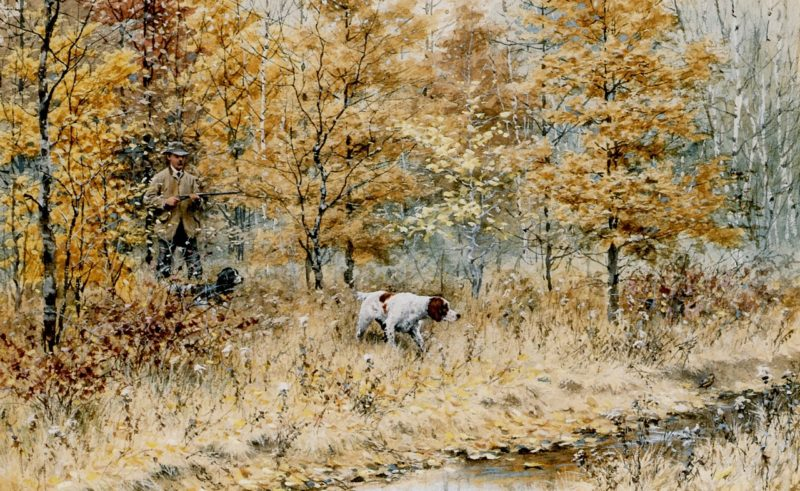 Fall Woodcock Shooting | Arthur B Frost | oil painting