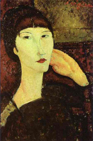 Adrienne (Woman With Bangs) 1917 | Amedeo Modigliani | oil painting