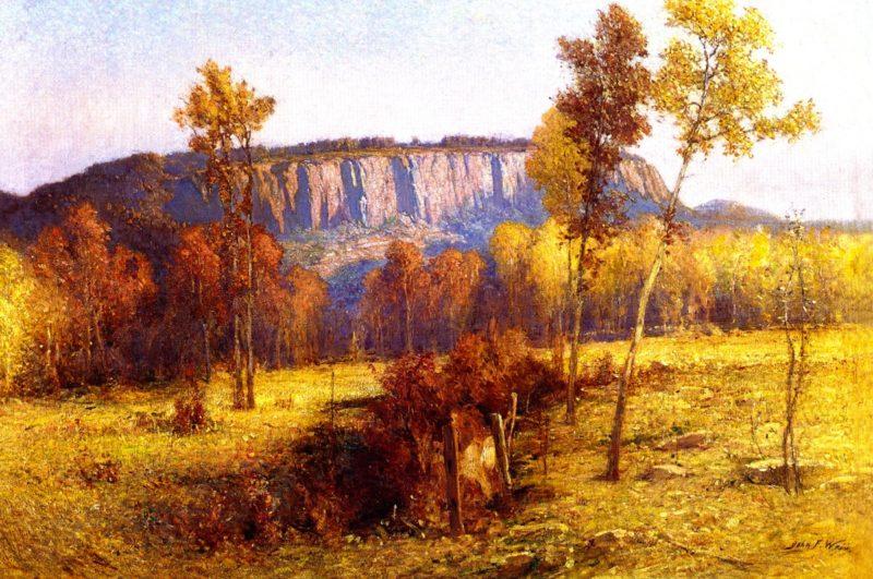 East Rock New Haven | John Ferguson Weir | oil painting