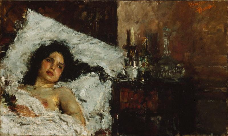 Resting | Antonio Mancini | oil painting