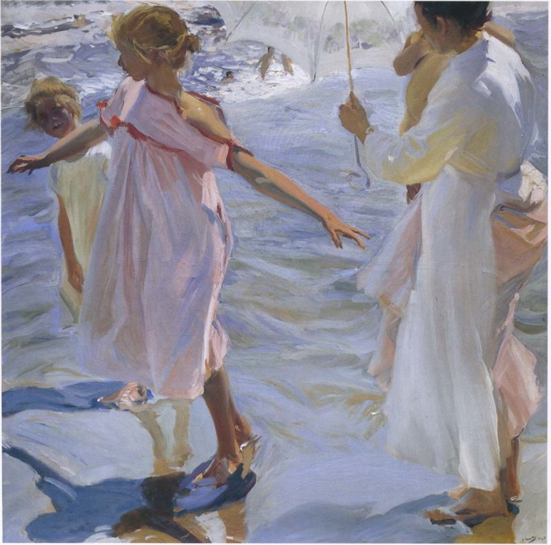 Bath Time | Joaquin Sorolla y Bastida | oil painting
