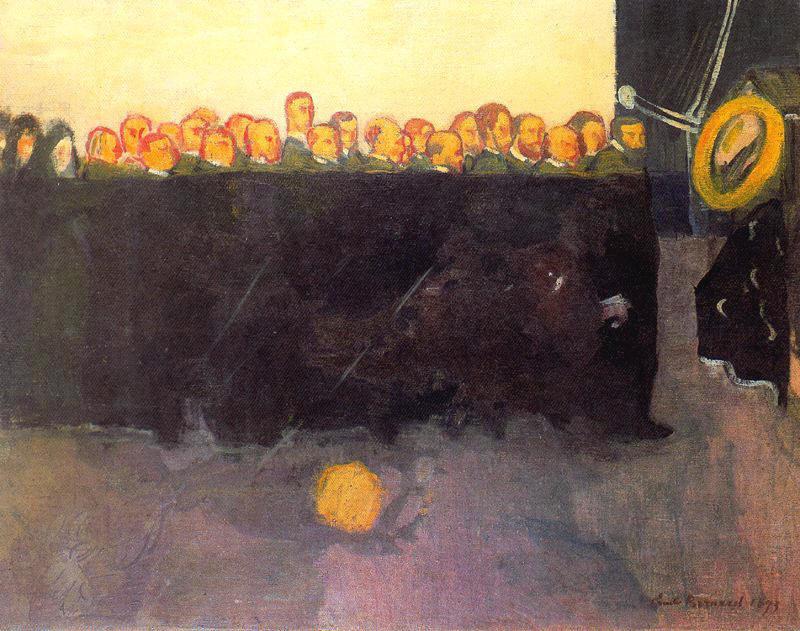The funeral of Vincent van Gogh   Emile Bernard   oil painting