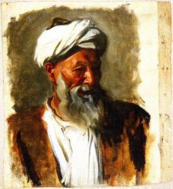 Old Man with a White Turban | John Singer Sargent | oil painting