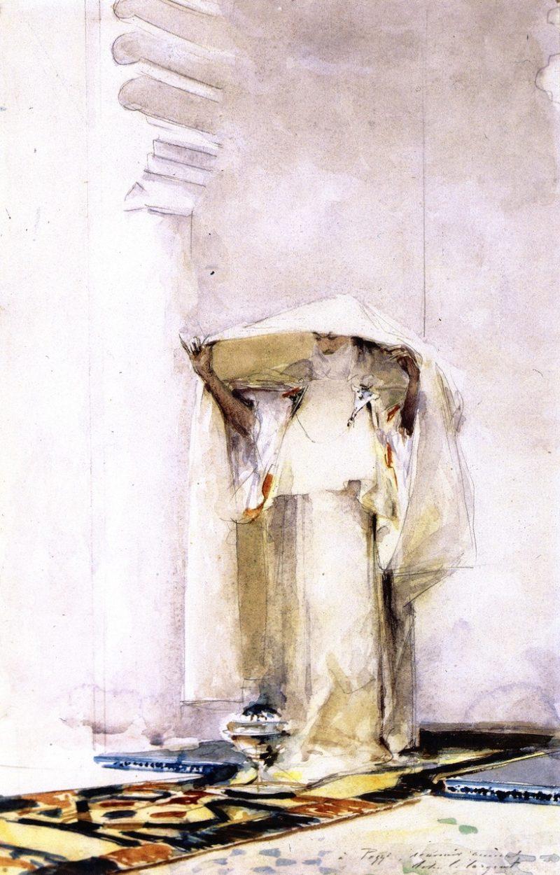 Incensing the Veil | John Singer Sargent | oil painting