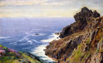 Coast near Boscastle Cornwall | William Trost Richards | oil painting