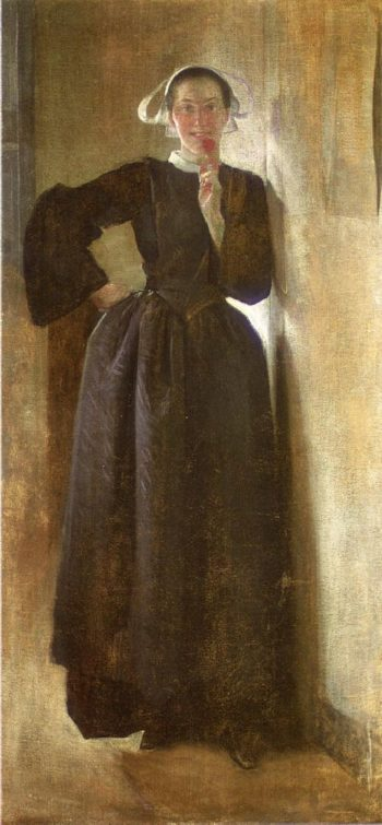 Josephine the Breton Maid | John White Alexander | oil painting