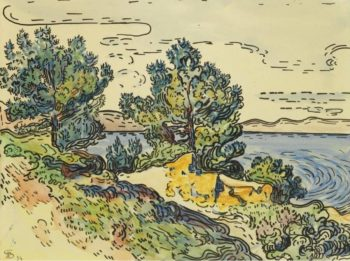 Landscape of the Seashore with Trees 1894 | Paul Signac | oil painting