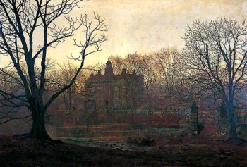 A Yorkshire Home | John Atkinson Grimshaw | oil painting