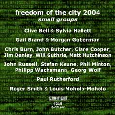 """Read """"Freedom of the City 2004 - Small Groups"""" reviewed by John Eyles"""