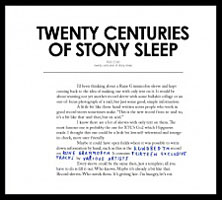 Various Artists: Twenty Centuries of Stony Sleep