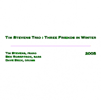 Three friends in winter