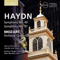 Handel and Haydn Society, Harry Christophers: Haydn: Symphony No. 39, Symphony No. 87, Mozart – Sinfonia Concertante