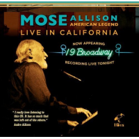 Album American Legend Live in California by Mose Allison
