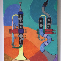 Album Trumpet Rising, Bass Clarinet Moon 2020 by Matt Lavelle