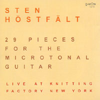 Sten Hostfalt: 29 Pieces for the Microtonal Guitar: Live at Knitting Factory New York