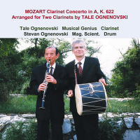 """Mozart Clarinet Concerto in A, K. 622 Arranged for Two Clarinets by..."