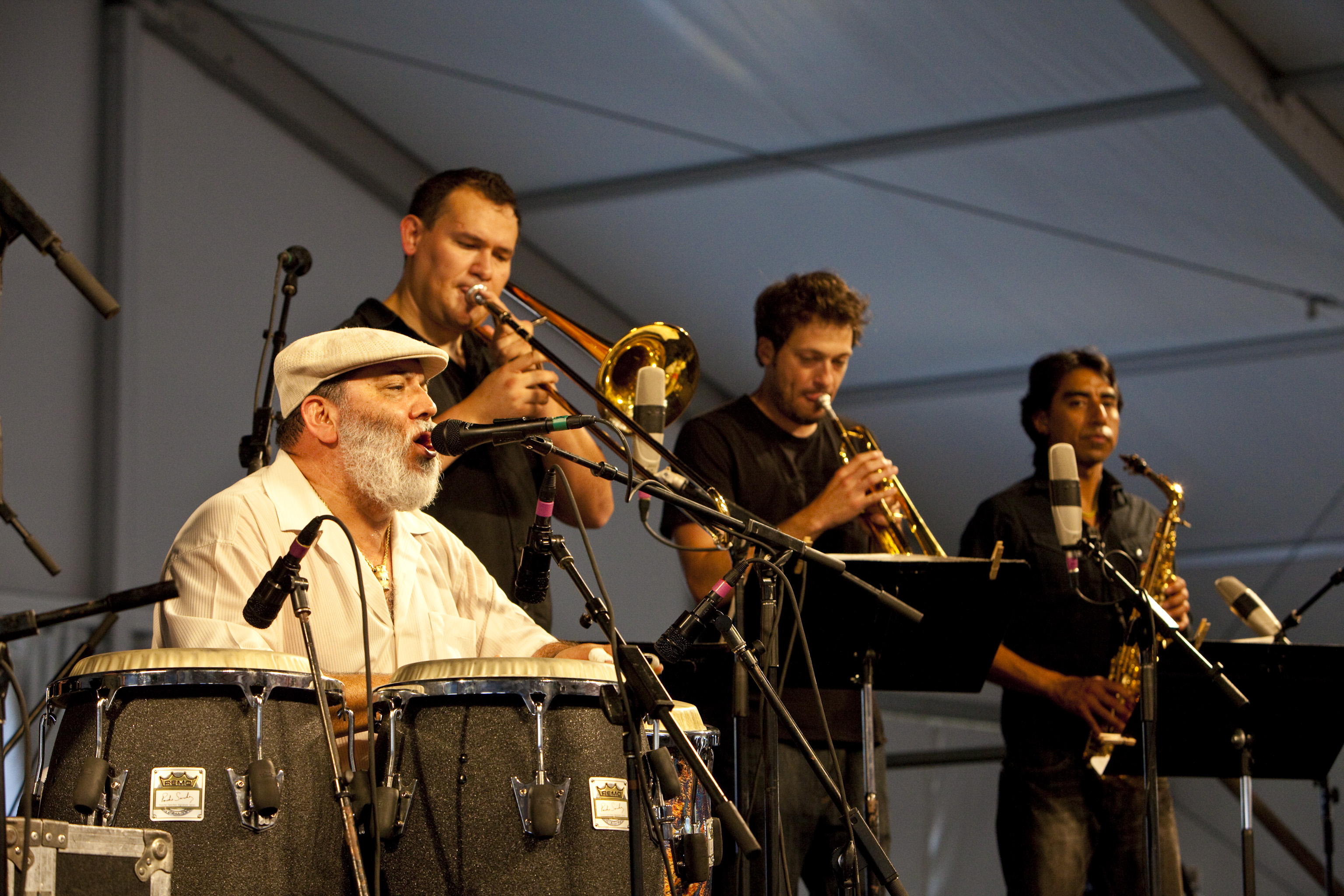 Poncho Sanchez at the 40th Anniversary New Orleans Jazz & Heritage Festival, USA