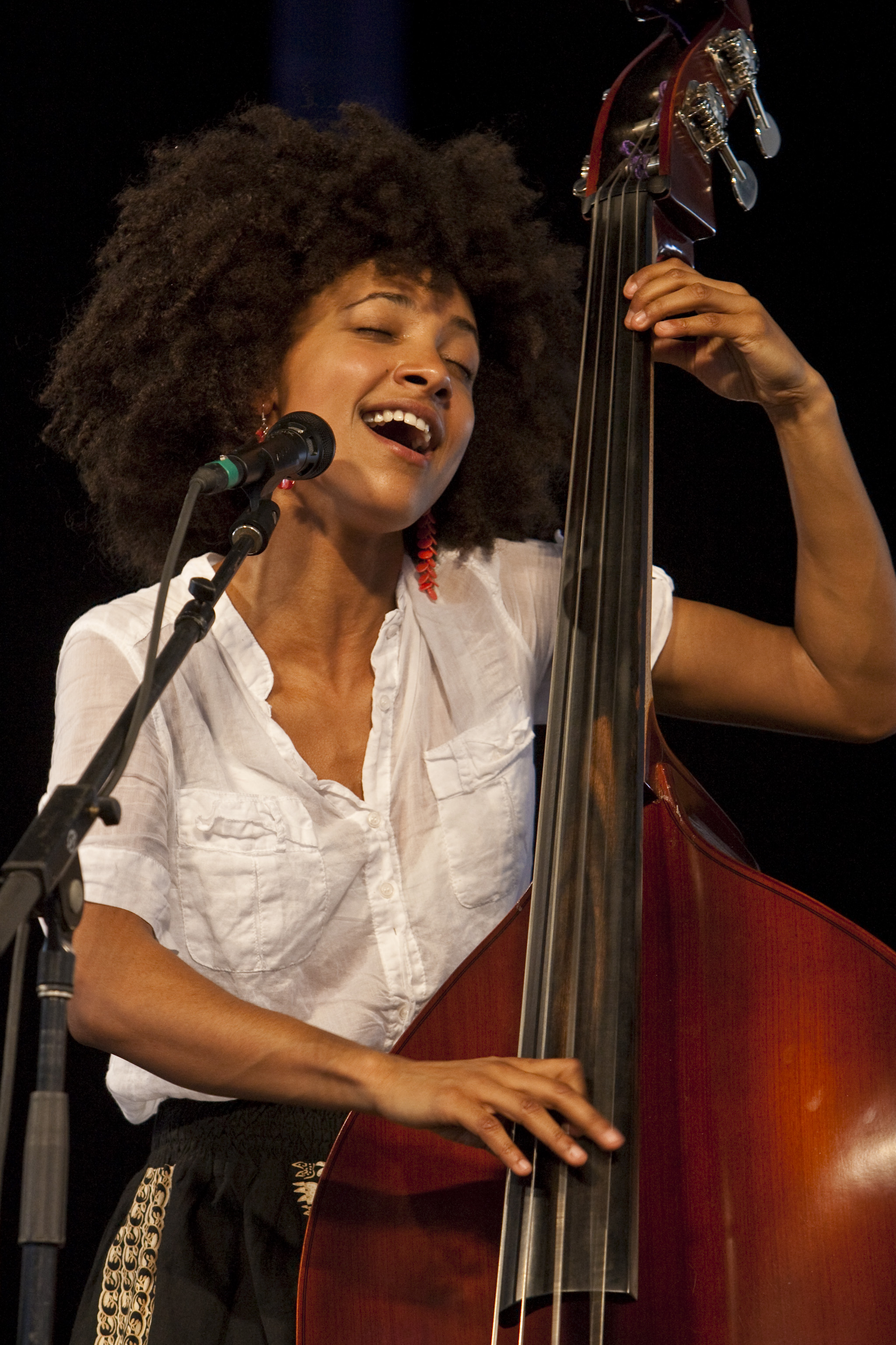 Esperanza Spalding at the 40th Anniversary New Orleans Jazz & Heritage Festival, USA
