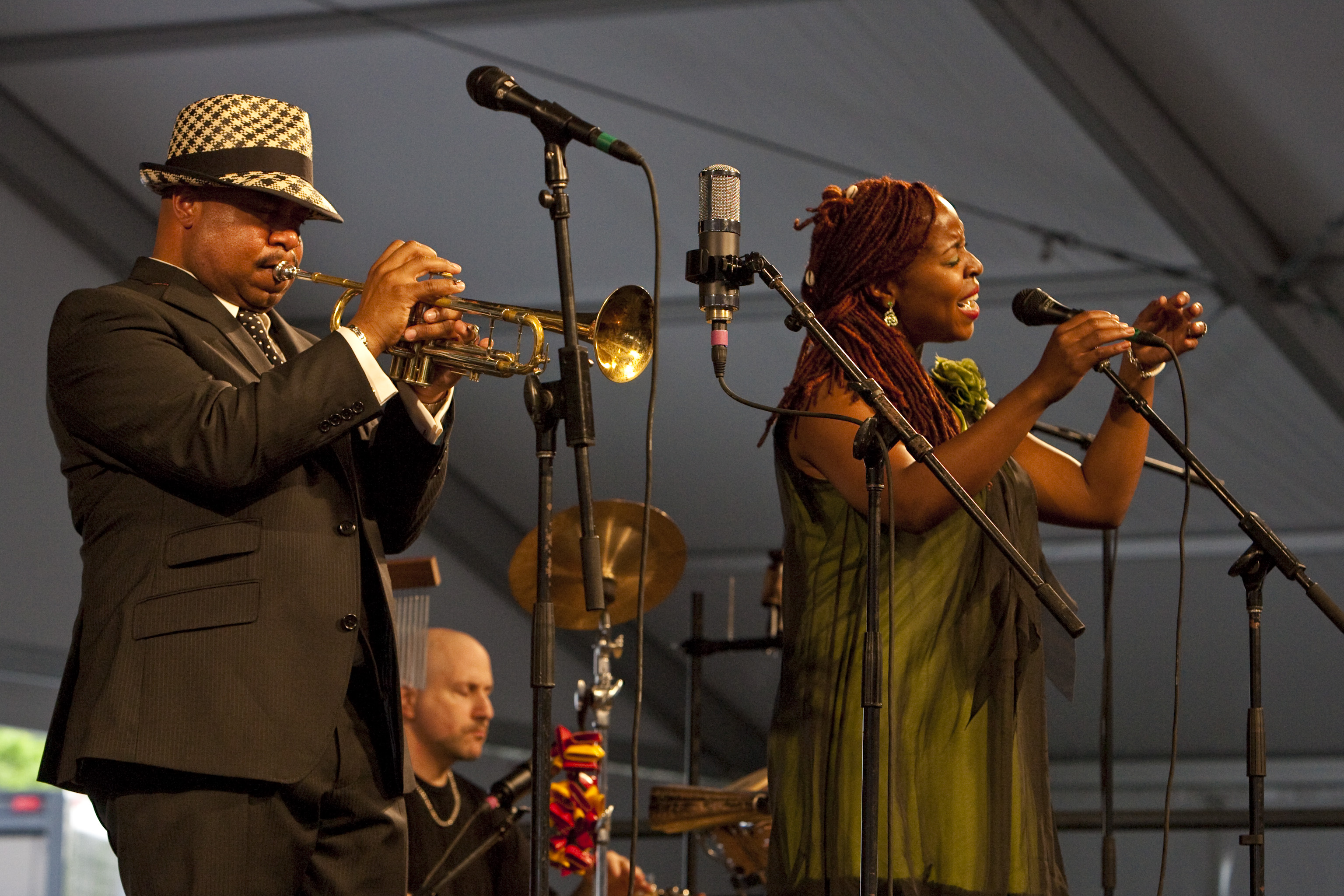 Nicholas Payton at the 40th Anniversary New Orleans Jazz & Heritage Festival, USA